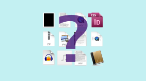 Question mark superimposed on file icons