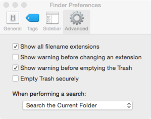 Macintosh Finder Preferences