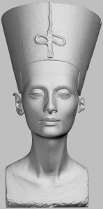 Bust of Nefertiti, from 3D scan, Egyptian Museum of Berlin